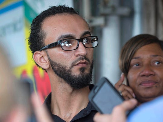 Abdullah Muflahi, the owner and manager of the Triple S Food Mart in Baton Rouge, La., where Alton Sterling was shot, speaks with reporters on July 6, 2016.