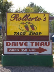 Rolberto's Taco Shop at 606 W. Main St. in Mesa. --