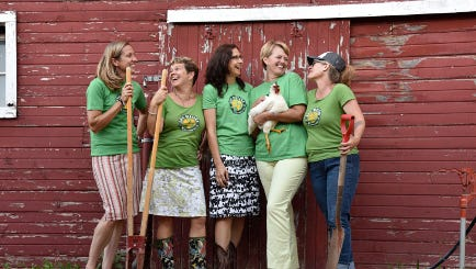 The Soil Sisters weekend August 4 through 6 celebrates Wisconsin women in sustainable agriculture. Part of the planning team includes (left to right) Jen Riemer of Riemer Family Farm in Brodhead, WI; Lisa Kivirist of Inn Serendipity Farm and B&B in Browntown, WI; Cara Carper of Green County Economic Development Corporation.