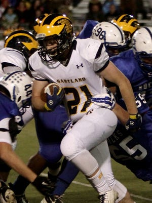 Hartland will rely on Ryan McRobb and its rushing attack when the Eagles host Grand Ledge tonight in the first round of the state football playoffs. Hartland hopes to take advantage of playing at home in its first playoff appearance in two years.