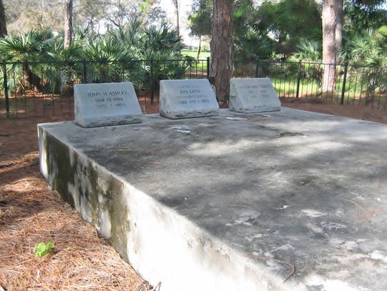 The Ashley Family Cemetery, showing just some of the