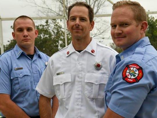 Firefighter/EMT Kyle George, Lt. Michael Abernathy