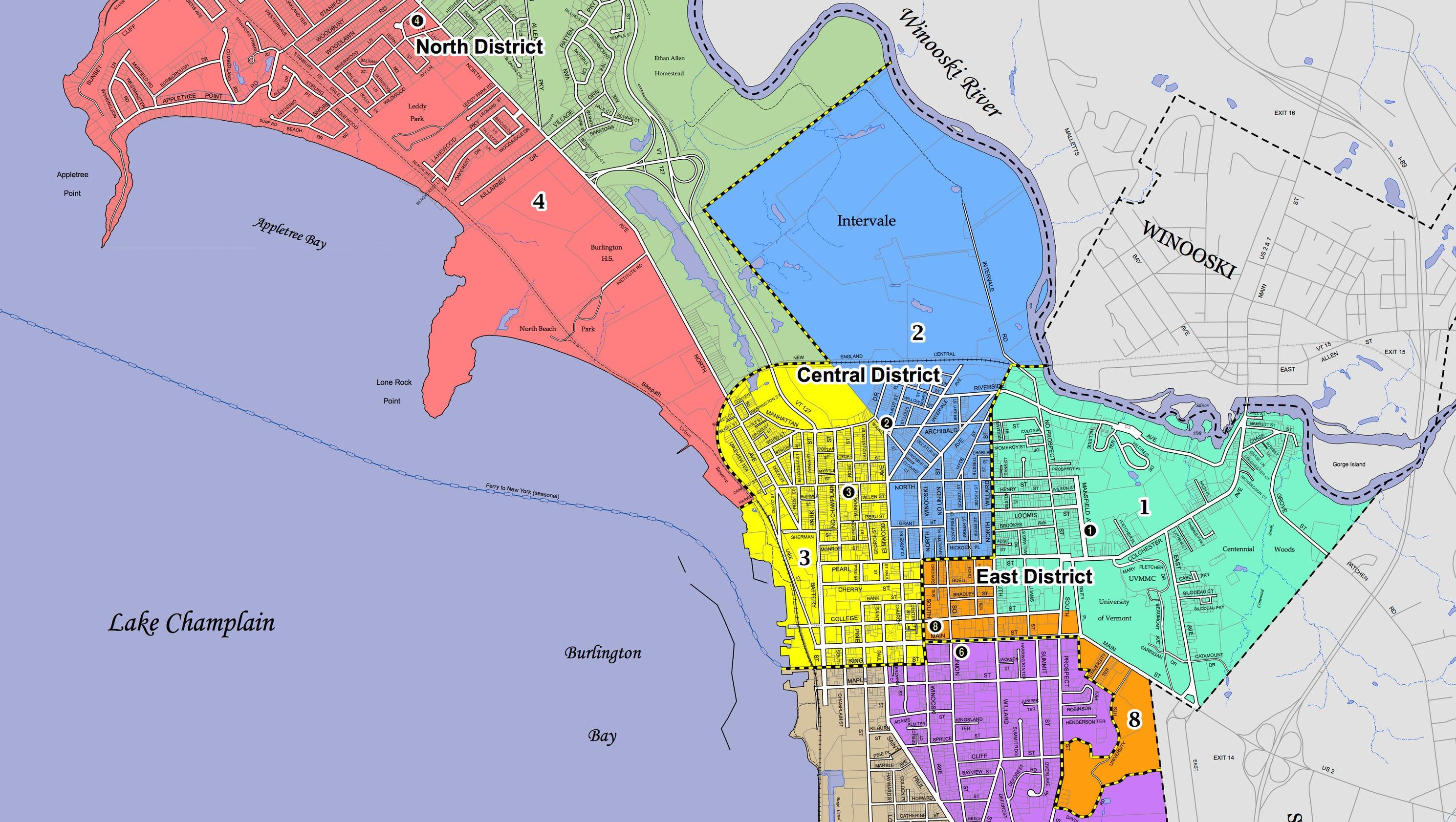 Burlington Vt City Wards Map