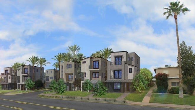 An artist's rendering shows a new development called Treo in Old Town Scottsdale.