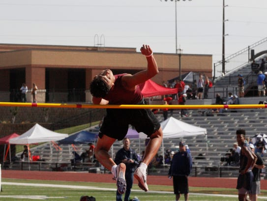 Vernon's Anthony Garza won the Region I-4A high jump