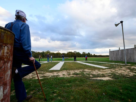 Members of the Mason-Dixon Clay Busters, a youth sport-shooting league, shoot trap at Glen Rock Shooting Club. The Claybusters' primary focus is safety.