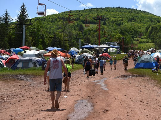 A view of the camping area from the 2017 Taste of Country Music Festival on Hunter Mountain.