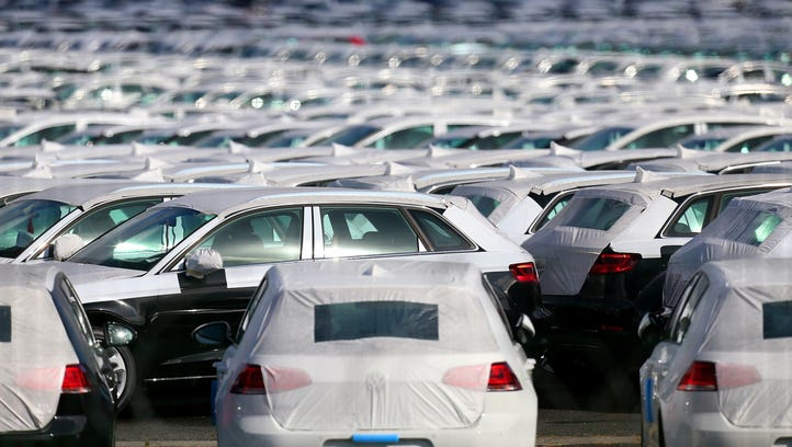 (FILES) This  September 25, 2015 file photo shows cars