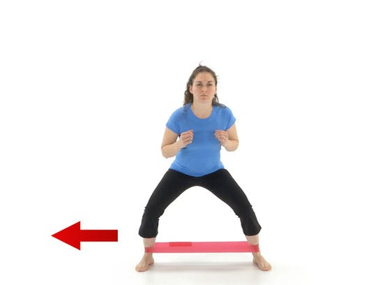 EXERCISE: Curtsey lunges, bent knee side steps (with