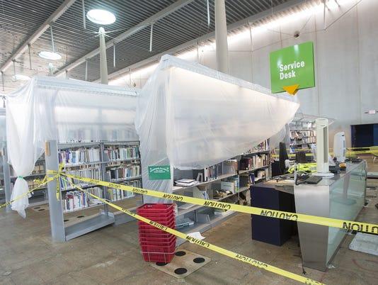 Burton Barr library damage