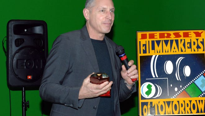Emmy-award winning director Gary Donatelli, receiving the 2011 Barrymore Award. Donatelli, a member of the Fort Lee Film Commission, helped push for the passage of a senate bill to reinstate tax credits for filming in the state.