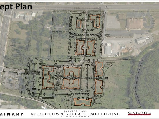 A rendering of the Northtown Village development being