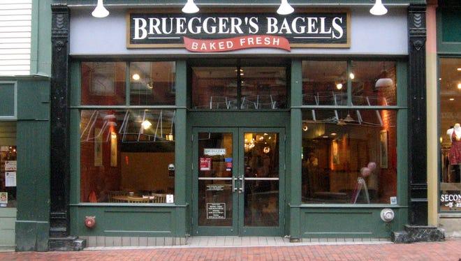 Bruegger's Bagels on Church Street in Burlington on Monday, March 21, 2011.