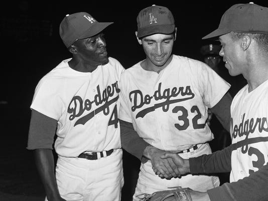 Sandy Koufax, Willie Davis, Maury Wills