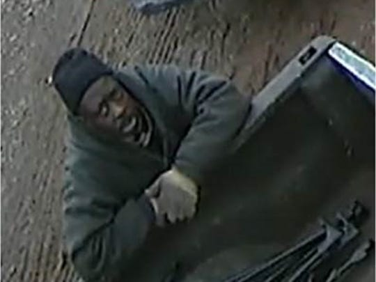 One of two men sought in connection with the alleged theft of a welding machine and dolly from a Linden bakery.