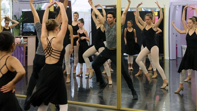 Lucas Segovia taught jazz and Broadway dance during an Intensive Dance Workshop at the Salinas School of Dance