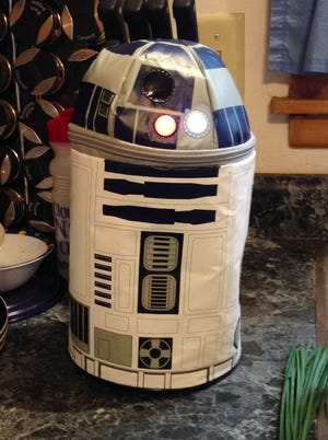 My son won't let me in on his reasons for insistence on cold lunches. Maybe he wants to show off his new talking R2D2 lunch box. I know I would!