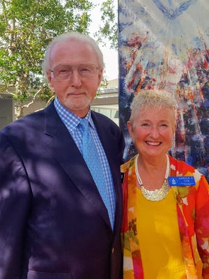Peter and Carole Coe have volunteered their time as curators of The Galleries at First Pres at First Presbyterian Church of Vero Beach since its founding in January 2017.