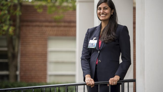 Rohini Mehta, Assistant Professor at the Medical College of Georgia Department of Psychiatry and Health Behavior, photographed outside the Stoney Medical Building on the MCG campus in Augusta, Ga., Monday afternoon October 26, 2020.
