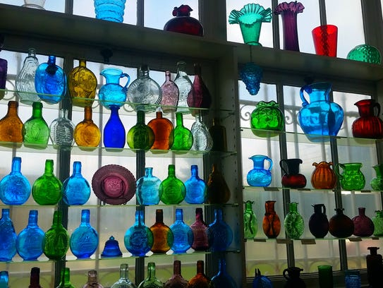 A display from the Heritage Glass Museum in Glassboro.