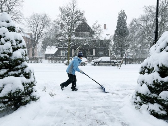 Beth Leibfried finds herself shoveling snow on Oxford