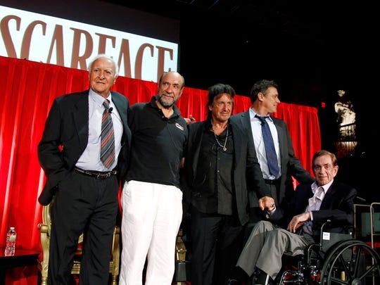 Robert Loggia, from left, F. Murray Abraham, Al Pacino,