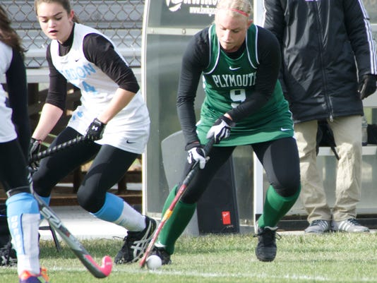 Susquehannock graduate Sam Carberry (9) was named to the All-Little East Conference Team. (Photo courtesy of Plymouth State University)