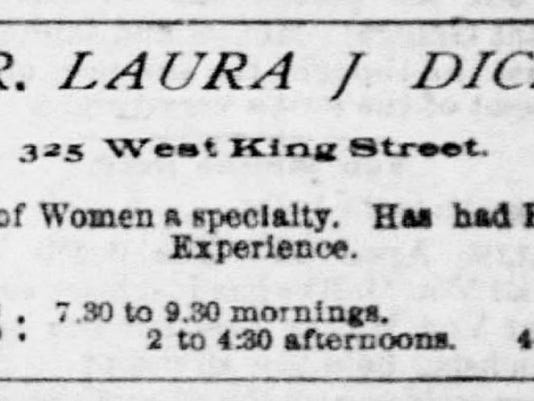 Dr. Dice's first newspaper advertisement. April 1891.