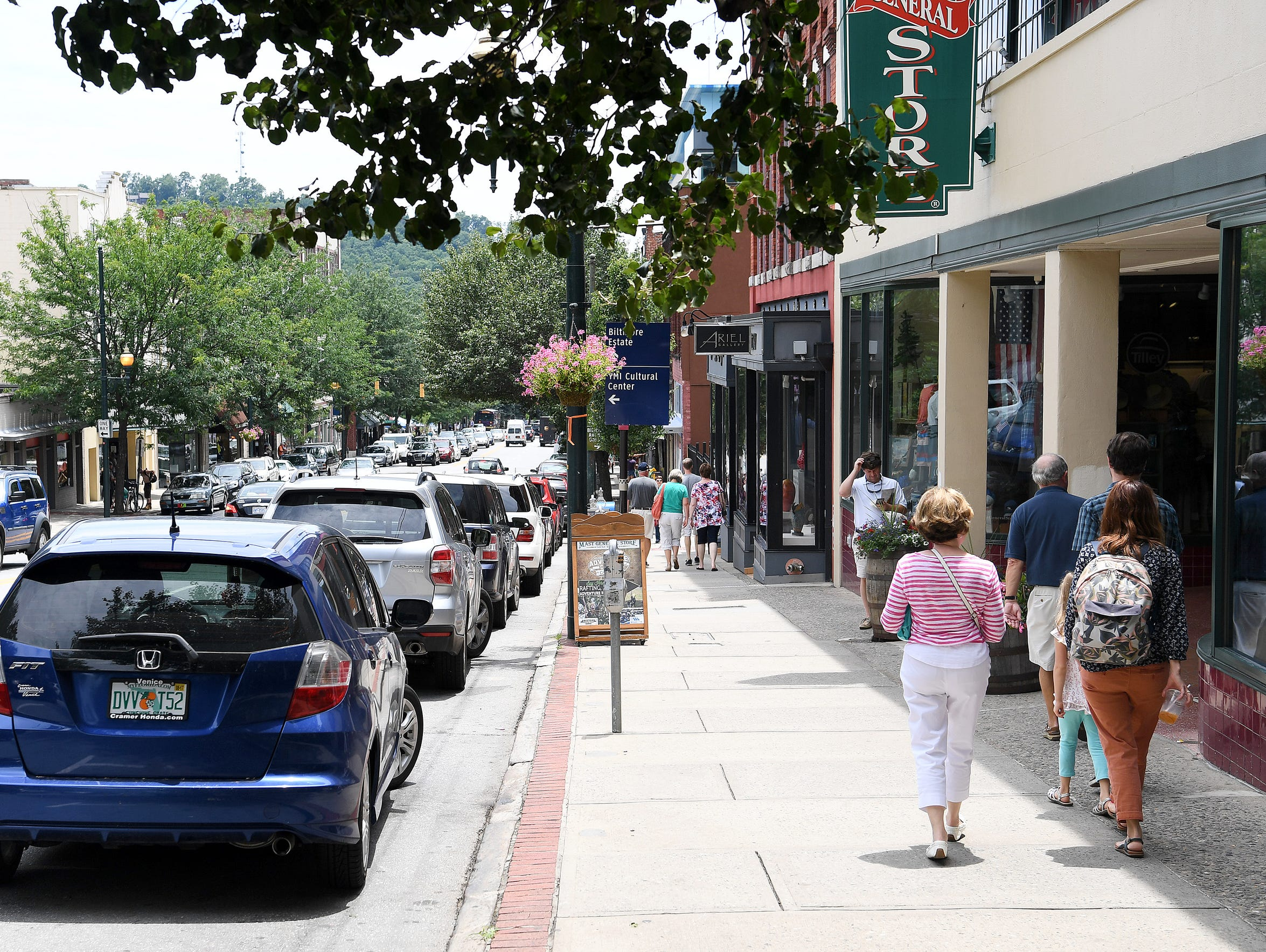 Biltmore Avenue in downtown Asheville on Wednesday,