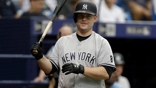 The Yankees traded catcher Brian McCann to the Astros on Thursday for two minor league pitchers.  (AP Photo/Chris O'Meara)