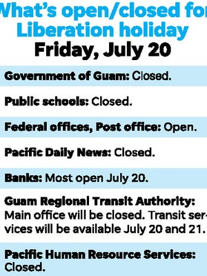 Here's what will be open, closed for Liberation holiday July 20.