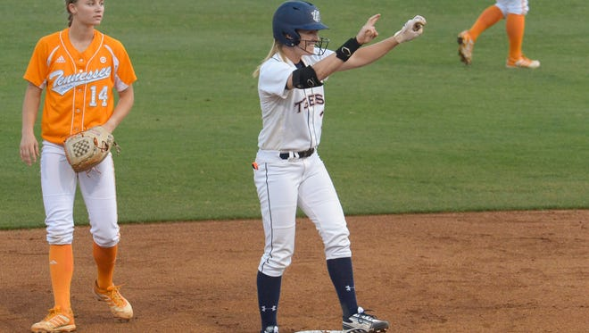 Morgan Estell and the Auburn softball team beat Tennessee for the SEC championship last weekend.