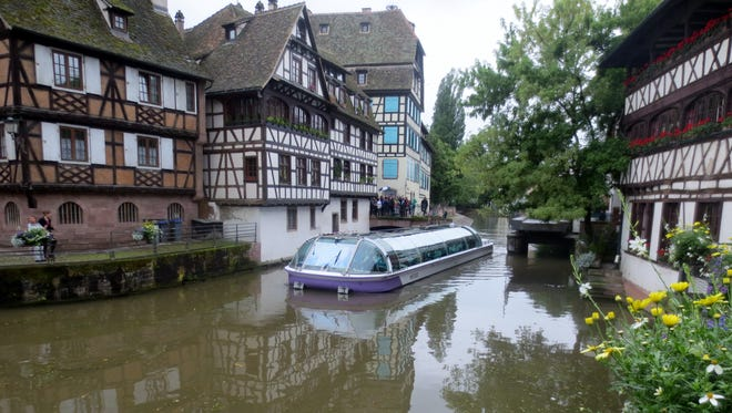 The medieval city center in Strasbourg, France, is a UNESCO World Heritage Site.