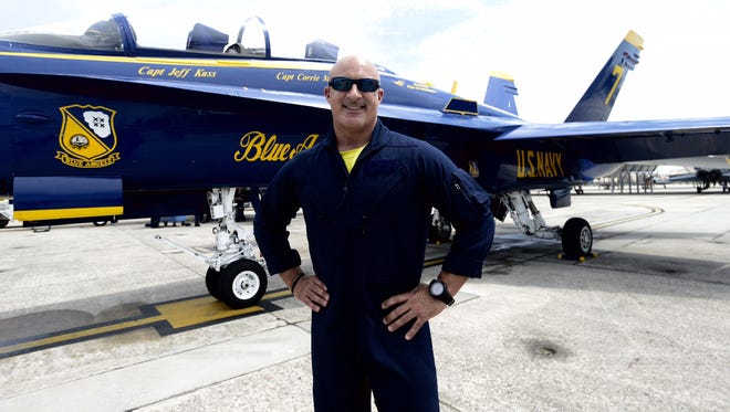 Jim Kantorei prepares to fly with the Blue Angels Thursday.