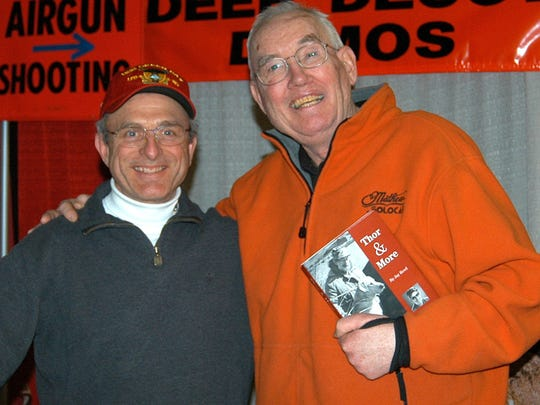 Patrick Durkin and Gary Clancy at the 2009 Deer & Turkey Expo in Madison.