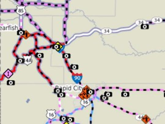 Portions of red are under a no-travel advisory.