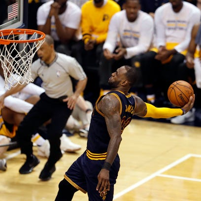 Apr 20, 2017; Indianapolis, IN, USA; Cleveland Cavaliers