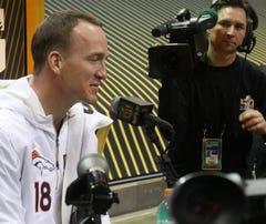 Peyton Manning at Super Bowl Opening Night