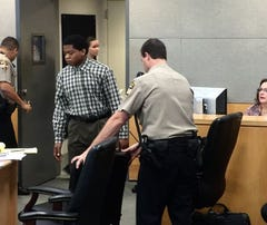 Rashad Owens appeared in court Monday for jury selection.