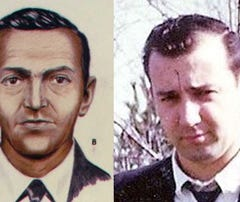 LEFT: FBI composite of the D.B. Cooper suspect, thanks to information gathered from flight crew.  RIGHT: Picture of Dick Lepsy taken just before he disappeared from Grayling, Michigan October 29, 1969.