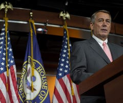 House Speaker John Boehner (R-Ohio) speaks during a press conference in the US Capitol on September 25, 2015 in Washington, DC.  Boehner announced Friday that he will be stepping down from Congress at the end of October.