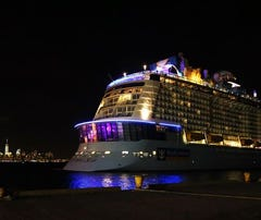 """Four people suffered minor injuries during the storm, where 30-foot waves and winds up to 120 mph rocked the ship, which suffered damage the cruise line categorized as """"superficial."""""""