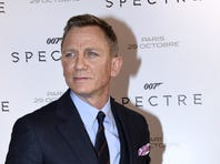 British actor Daniel Craig poses during the French premiere of the new James Bond film 'Spectre' on October 29, 2015 in Paris.