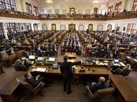 Governor Perry delivers a final speech to a joint session of the Texas legislature on Jan. 15, 2015.