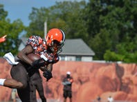 Rookie wide receiver Shane Wynn fights to make hometown team, the Cleveland Browns.