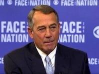 Congressman John Boehner (R-OH) appeared on CBS' Face the Nation.