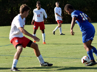 Forward/Midfielder Peyton Smith maintains control of the ball.