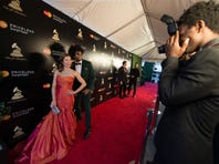 LOS ANGELES, CA - FEBRUARY 09:  In celebration of the 58th Annual GRAMMY Awards, Christina Milian surprises consumers at the MasterCard Rock the Red Carpet Truck, where MasterCard cardholders can go from their everyday look to red carpet ready on February 9, 2016 in Los Angeles, California.  (Photo by Christopher Polk/Getty Images for MasterCard)