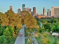 Completed in Fall 2015, Buffalo Bayou Park offers 160 acres of beautiful scenery and skyline views.