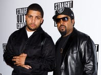 O'Shea Jackson Jr and Ice Cube attend a special screening of Straight Outta Compton on August 20, 2015